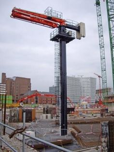 Concrete placing boom after pipeline dredge to find out reasons for the blockage to develop solutions for the reason