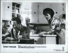 "1985 Press Photo  ""Sweet Dreams"" Jessica Lange Ed Harris"