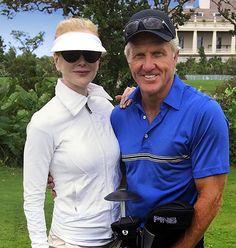 Nicole Kidman wearing our visor with Greg Norman. Eric Javits 9d342f47217