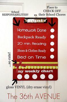 chore chart :)