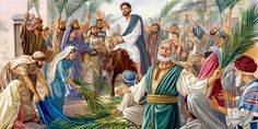 As Jesus rides into Jerusalem on a donkey, the crowd hails him as King
