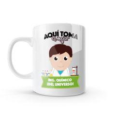 Mug - Aquí toma el mejor ingeniero químico del universo, encuentra este producto en nuestra tienda online y personalízalo con un nombre o mensaje. Chocolate Caliente, Snoopy, Mugs, Tableware, Character, Social, Art, Dietitian, Occupational Therapist