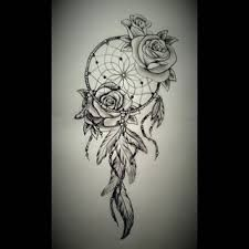 Image result for rose with dream catchers tattoos