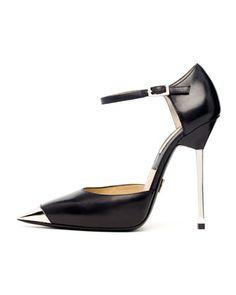 Michael Kors Arielle Runway Metal-Toe Pump.