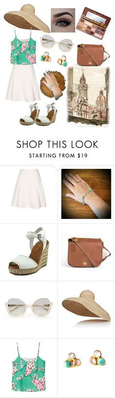 """Cool Italian style on the US streets"" by divinespiritcreations ❤ liked on Polyvore featuring Prada, Lola, MANGO, Too Faced Cosmetics and sunglasses"