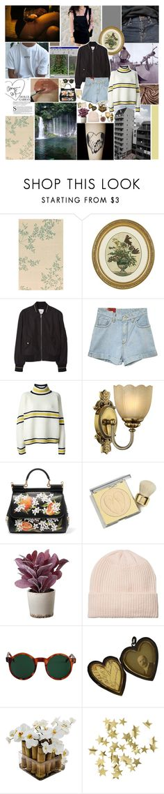 """""""i got the blues and the blues got me"""" by gloomed ❤ liked on Polyvore featuring Ethan Allen, MANGO, Marni, Hinkley Lighting, Dolce&Gabbana, Victoria's Secret, Torre & Tagus, Monki, American Apparel and Sia"""