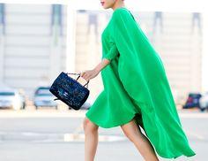 Beautiful dress. Love the Chanel bag.