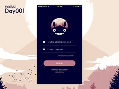 In this article you will see examples of mobile user interface design inspiration to give you a hint on how a login form must be designed for mobile design. Ios Design, Login Page Design, Design Android, Interface Design, Flat Design, User Interface, Graphic Design, Wireframe Mobile, Mobile Login