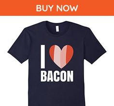 Mens I Love Bacon T-Shirt Small Navy - Food and drink shirts (*Amazon Partner-Link)