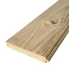 Assoalho de pinus tratado com nó 2 x 14 x 300cm | Madeireira Santos Madeiras