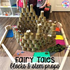 Fairy Tales Activities and Centers - Pocket of Preschool Preschool Centers, Preschool Science, Preschool Crafts, Fairy Tale Crafts, Fairy Tale Theme, Fairy Tale Activities, Preschool Activities, Disney Activities, Vocabulary Activities