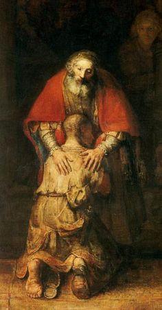 Le retour du fils prodigue (détail), par Rembrandt van Rijn