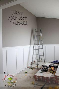 Inexpensive Board and Batten Wainscot Tutorial remodelaholic.com #board_and_batten #wainscot #Tutorial #diy