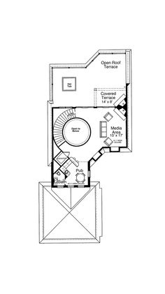 Third Floor WIth a Hot Tub On The Terrace! - Plan 065S-0036 | houseplansandmore.com