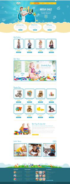 Kiddy is the premium #PSD #template for a wide variety of children-oriented #websites.