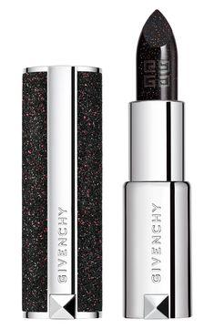 Plum Purple, Purple Glitter, Silver Glitter, Lipstick Shades, Lipstick Colors, Sparkle Lipstick, Givenchy Beauty, First Perfume, Tribute