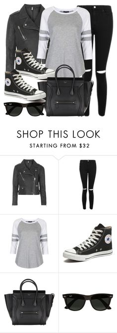 """""""Style #11742"""" by vany-alvarado ❤ liked on Polyvore featuring Topshop, Converse and Ray-Ban"""