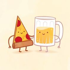 Peach and cream! Which adorable food pair are you and your best friend? I did it for me and my best friend Austin and we got pizza and beer LOL Cute Friends, Best Friends, Illustrator, Pizza And Beer, Better Together, Food Humor, Food Illustrations, Friends Illustration, Character Illustration