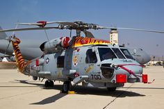 US Navy Sikorsky MH-60R helicopter at March ARB (RIV/KRIV). The aircraft registration is 167007