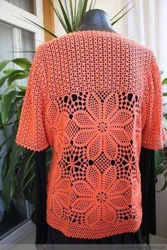 Жакетик крючком » В сети – себя просвети! Crochet Top, Diy And Crafts, Lily, Knitting, How To Make, Clothes, Crochet Sweaters, Patterns, Ideas
