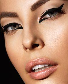 Model Maja Hansen @ Vision - #beauty #cateye #nudelip #makeup #beautiful