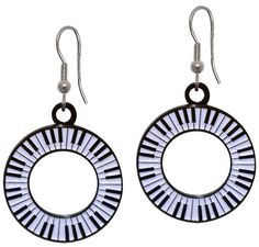 These piano earrings will dress up your next piano recital! A fun and unique jewelry combination that will definitely wow the crowd! A wonderful music gift. Piano Gifts, Guitar Gifts, Gift For Music Lover, Music Gifts, Archive Music, Chalkboard Wall Art, Drum Accessories, Drummer Gifts, Key Bottle Opener