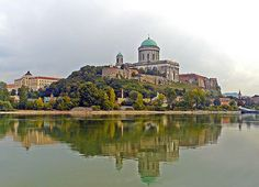 Esztergom Basilica seen from Danube - Hungary - It is an ecclesiastic basilica in Esztergom, Hungary, and the seat of the Catholic Church in Hungary.  It is the biggest building in Hungary and the 18th biggest church in the world.  Built by Italian masters between 1506–1507 out of red marble, its walls adorned with Tuscan Renaissance motifs.  It is the most precious remaining example of Renaissance art in Hungary.