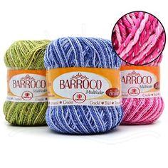 O Barbante Barroco é um barbante mesclado, ideal para decoração de tapeçaria de cozinha e banheiro