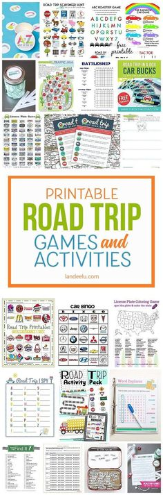 Printable Car Games for Kids: A Must for Your Next Road Trip! A TON of awesome printable car games for kids! So easy to print [. Road Trip With Kids, Family Road Trips, Travel With Kids, Family Vacations, Family Travel, Bingo, Road Trip Hacks, Camping Hacks, Camping Life