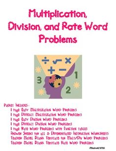 Division word problems homework
