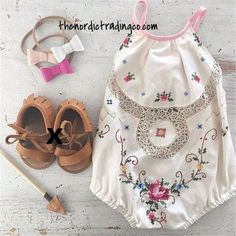 Baby Girl Boho Romper Sunsuit Halter Tie Antiqued Mesh Inlay Cross Stitch Pattern 3 Headbands Fringe Sandal Infant Shoe Newborn Sets Gifts Accessories