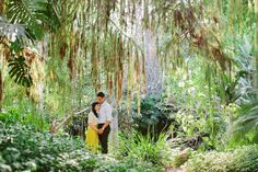 Amazing Los Angeles Arboretum Engagement Session - garden of eden, nature and greenery