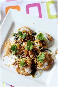Dahi Papdi Chaat by 4thsensecret: Fast food in India is more Healthy than fast food in the West. Indians eat a lot of lentils, pulses, vegetables and greens. ॐ #Chaat