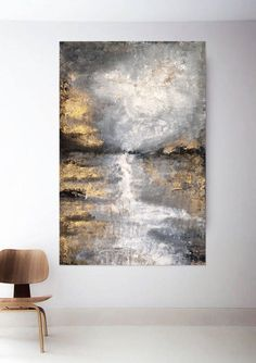 Large Abstract Wall Art, Canvas Wall Art, Texture Painting On Canvas, Gold Leaf Art, Modern Art Paintings, Acrylic Art, Home Decor Wall Art, Leaf Photography, Shades