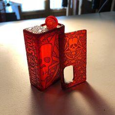 Red Bloody Ultem... #frankenskull #vape #squonk #bottomfeeder #vaping #skull #mrthe #vapers #bf #ejuice #vapecommunity #vapelife #vapeporn…