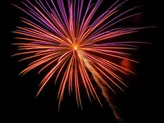 Colorful Fireworks by Cynthia Woods