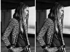 Sasha Pivovarova by Hedi Slimane @ Saint Laurent SS Pre-Collection 2014