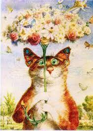 Картинки по запросу котики весна рисунки