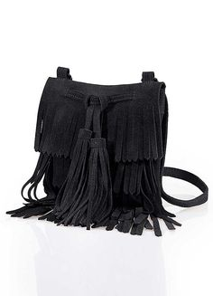 Seventies fringed suede bag   £39.99   bonprix   stay in style this season with a nod to the 70s trend.