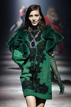 Lanvin...all of AW12/13's key looks..velvet, pine green, motifs, fur