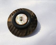 Victorian Button Brooch by ScribbleChickenShop on Etsy, $16.00