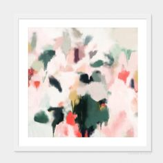 Rosie by Patricia Vargas of Parima Studio // abstract green and pink art print