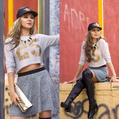 Get this look: http://lb.nu/look/7918396  More looks by Cosmina  M. //mbcos.net: http://lb.nu/mbcos  Items in this look:  Necklace   #casual #sporty #street #blackleatherboots #shiny #victoriasecretcluch #golden #silver #leather