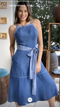 Dress Design Drawing, Casual Dresses, Casual Outfits, Look Fashion, Womens Fashion, Chic Dress, Dress Me Up, Designs To Draw, Clothing Patterns