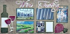 Scrapbooking Page Kit Wine Tasting Double by GreenTangerinesShop, $10.00