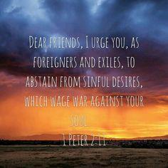 It is no longer a physical war but rather a spiritual war