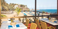 Restaurant at Hotel Orquidea. Bahía Feliz. San Bartolomé de Tirajana. Gran Canaria. Spain