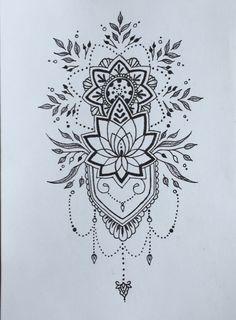 Mosaic Tattoo, Mandala Tattoo, Girl Back Tattoos, Love Tattoos, Tatoos, Lace Tattoo Design, Tattoo Designs, Best Tattoo Ever, Inspiration Tattoos