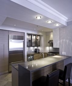 Urban Homes - Innovative Design for Kitchen and Bath. Great open kitchen design for small space.