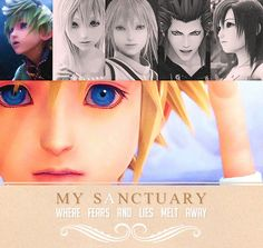Kingdom Hearts - My Sanctuary where fears and lies melt away. Kh 3, Kingdom Hearts 3, Geek Out, End Of The World, Disney Love, Me Me Me Anime, Final Fantasy, Nerdy, How To Memorize Things